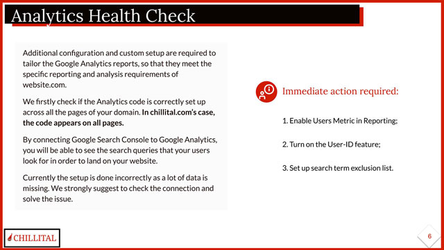 Chillital Google Analytics Health Check